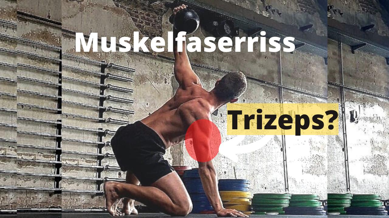 Training mit Muskelfaserriss im Trizeps